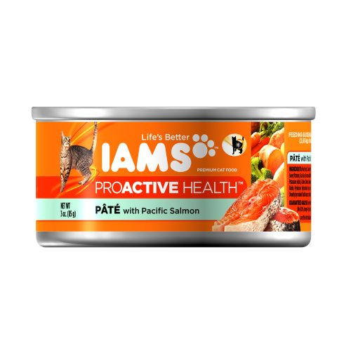 Iams Proactive Health Adult Pate with Pacific Salmon, 3-Ounce Cans (Pack of 24), My Pet Supplies