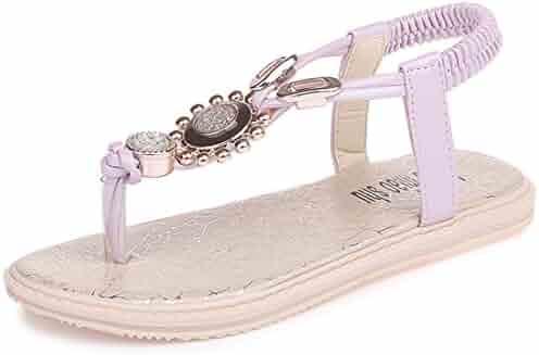 6b7908757 Litfun Kids Girls Slingback T-Strap Flip Flop Sandals (Toddler Little Kid