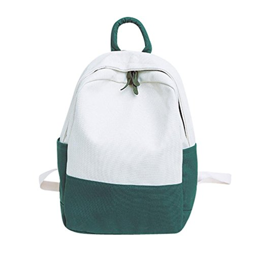 Fashion Green Backpacks Student Hit School Cinhent Canvas Women Color Shoulder Travel F5wPxv