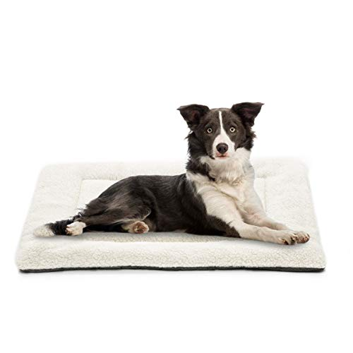 INVENHO Dog Bed Mat Comfortable Soft Crate Pad Anti-Slip Washable Dog Crate Pad for Large Medium Dogs & Cats 30-Inch