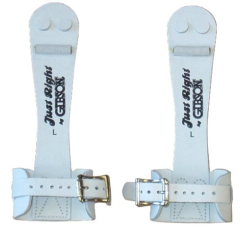 Gibson Athletic Single Buckle Just Right Uneven Bar Grips, White, - Single Gr