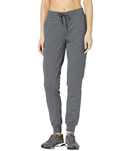 adidas Women's Essentials Linear Pants, Dark Grey Heather/True Pink, - Cotton Adidas Uniform