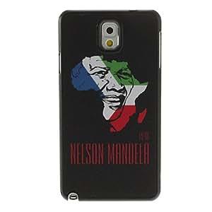 ZXM-Recordando Patrón Nelson Mandela Diseño Negro Dibujo Ground plástico duro de la contraportada para Samsung Galaxy Nota 3 N9000