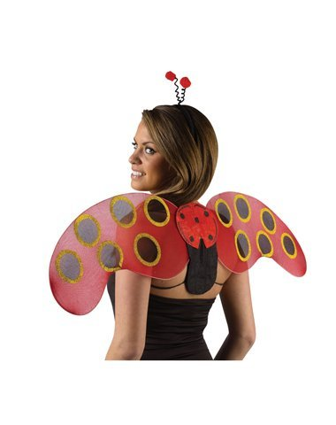 Holiday Times Unlimited Inc Women's Lady Bug Wings Multicoloured One Size