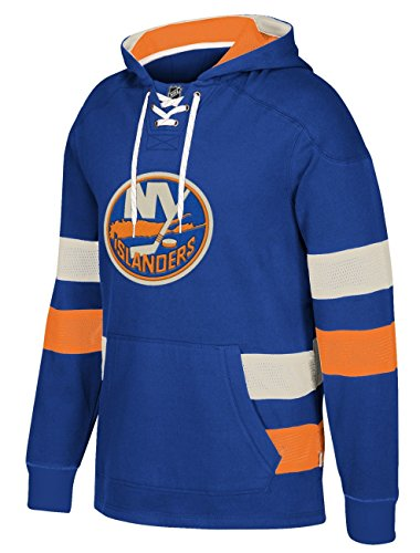 adidas NHL New York Islanders Ccm Pullover Jersey Hood, Blue, Medium