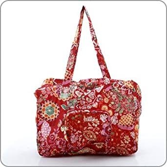 a39e8d8d848 Oilily Bag - Painted Flowers Folding Shopper - Cherry - OL396CY:  Amazon.co.uk: Clothing