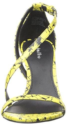 Calvin Narella Black Sandal Klein Laser Dress Women's Lemon qPxpA4qa7