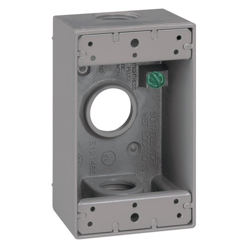 [Sigma Electric 14252 3/4-Inch 3 Hole 1-Gang Box, Grey] (3/4