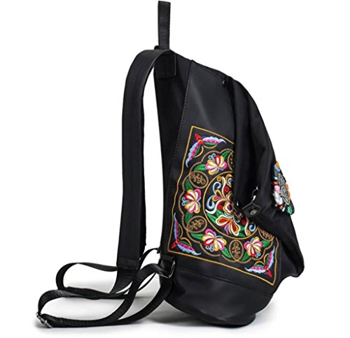 Style 36 Sac National 32 Libellule Dos Tissu BeiBao 14cm Broderie d'étudiant Oxford à Sac Bag Girl HATq1
