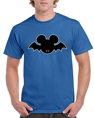 T-Shirts for Men Halloween Costumes Mickey Mouse Bat Disney Men's T-Shirts Round Neck Tee Shirts for Men(Blue,Large) -