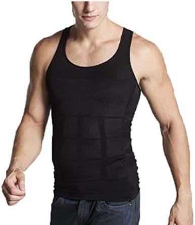 Owen Moll Men Slimming Body Shaper Vest Compression Shirt Tummy Control Tank Top Workout Undershirt