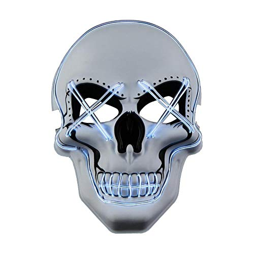 etateta Halloween Scary Mask LED Light Up
