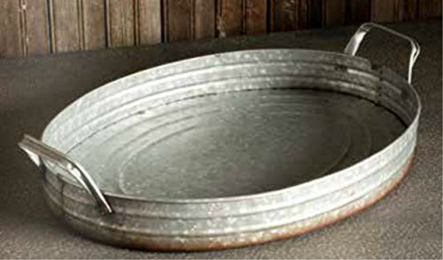 Oval Metal Tray - 8