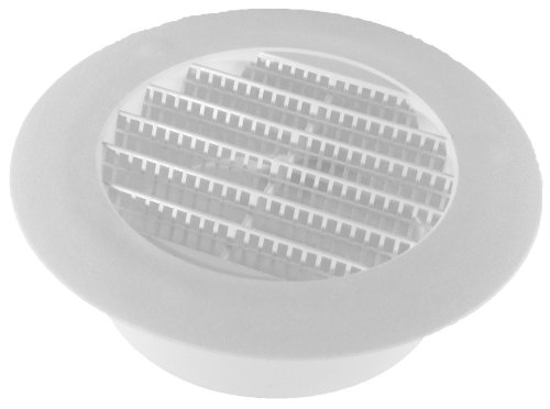 Speedi-Products SM-RSV 4 Diameter 4-Inch Plastic Round Soffit Vent (Round Floor Register)