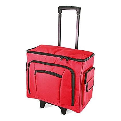 Bolsa de deporte con ruedas para máquina de coser de abedul 47 x 38 x 24 cm - rojo: Amazon.es: Hogar