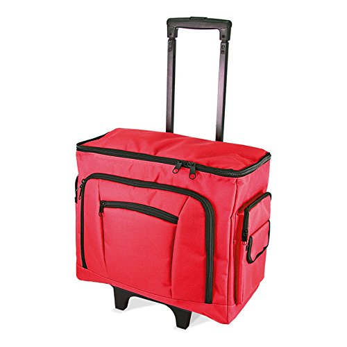 Birch 006105/R Red Sewing Machine Trolley Bag 47 x 38 x 24cm by Birch
