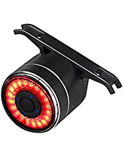XIAOKOA Smart Bike Tail Light, Bicycle Lights with USB Rechargeable Bike Brake Lights, Colorful Cycling Taillights with Waterproof Rear Bike Lights for Mountain Cycling Taillights, and Road Bike