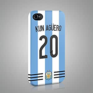 ARGENTINA WORLD CUP FOOTBALL 2014 SOCCER CASE HARD COVER FOR Candy Case - iPhone 4 4S - Argentina 08