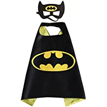 White sugar in summer Christmas Superhero Costume and Dress Up For Kids - Satin Cape and Mask (Batman)