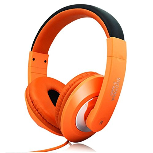 Hansee Over-Ear Kopfhörer, Laufende Mobiltelefone Over-Ear Kopfhörer Stereo Noise Cancelling PC Notebook Gaming Headsets Smart Color (Orange)