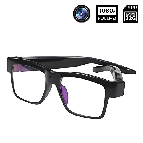 Camera Glasses 1080P Towero Portable Mini Video Glasses Wearable Camera for Office/Outdoor/Training/Teaching/Kids
