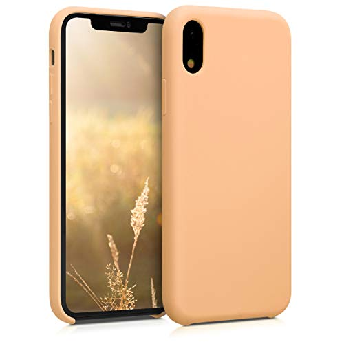 kwmobile TPU Silicone Case for Apple iPhone XR - Soft Flexible Rubber Protective Cover - Peach