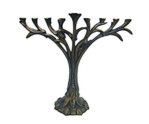 Judaica Hanukkah Menorah Collectors Unique Hanukkia Tree Of Life Design By Renown Artist D. KLASS Size: 13.75'' x 12'' Rabbi Temple Wedding Housewarming Bar Mitzvah Bat Mitzva and Jewish Homes (Heavy)