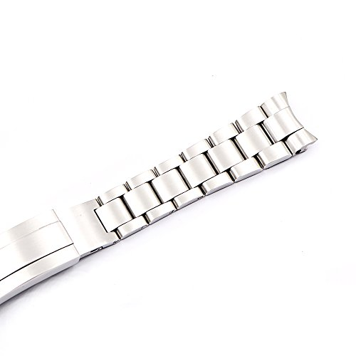20mm Solid Curved End Screw Links Replacement Watch Band Oyster Bracelet For Deepsea by Generic (Image #5)