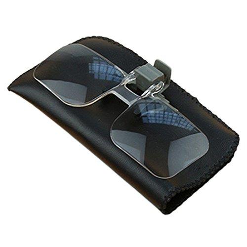QIXINSTAR Magnifier Folding Handfree Clip On Clear Magnifying Glasses HD Lens Precise Eyeglasses Jewellery Appraisal Watch Repair Tool ()