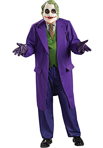 Rubie's Costume Batman The Dark Knight Deluxe The Joker Costume, Black/Purple, Plus Size (The Joker Fancy Dress Costume Dark Knight)