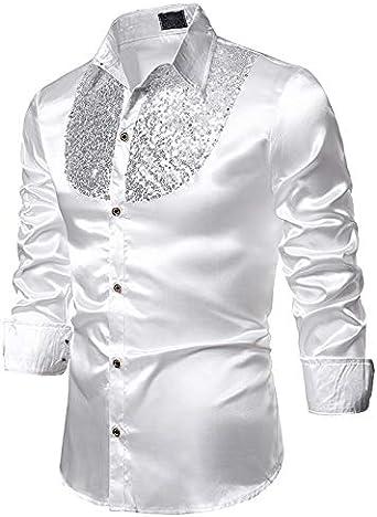 HUAZONG - Camisas de vestir para hombre, de algodón satinado ...