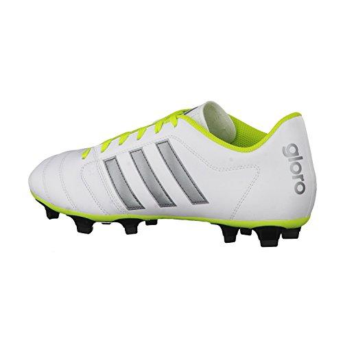 adidas Gloro 16.2 Fg, Zapatillas para Hombre Blanco / Noche metálica / Verde lima