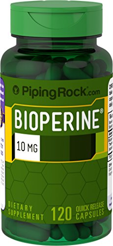 Piping Rock Bioperine 10 mg Nutrient Absorption Enhancer 120 Quick Release Capsules Dietary Supplement
