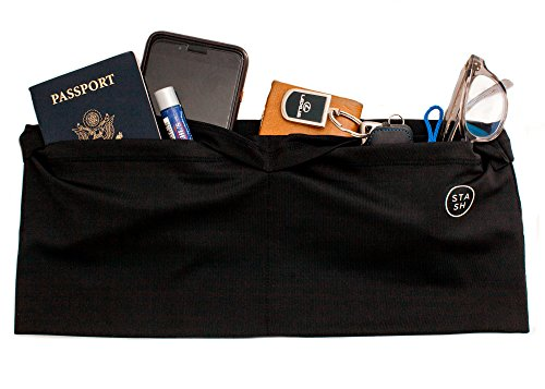 Fashion Running Belt Waist Pack by Trove | Travel, Exercise, Life Accessory | Holds smartphone, money, passport | 4 pockets