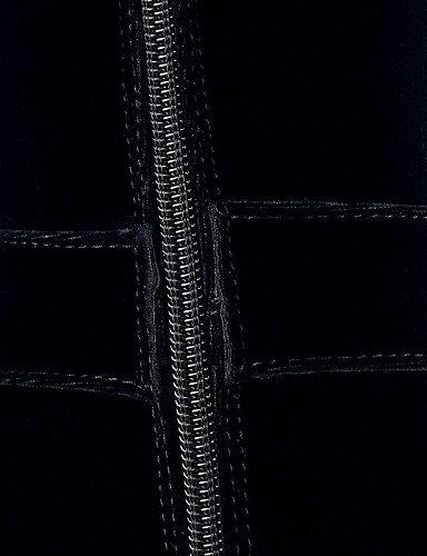 Botas Robusto Cn39 Punta Vestido Y Eu39 Xzz Sintético Cerrada Redonda Ante Mujer Black Oficina us8 Casual Tacón Negro Uk6 Trabajo Zapatos De 41vwxIqB8