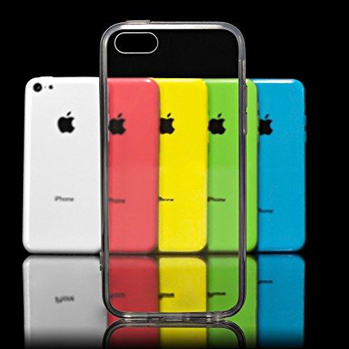 iPhone 5C Hülle Handyhülle von NICA, Soft Slim Silikon Case Cover Crystal Clear Schutzhülle Dünn Durchsichtig, Etui Handy-Tasche Backcover Transparent Skin, Phone Schutz Bumper für Apple iPhone-5C