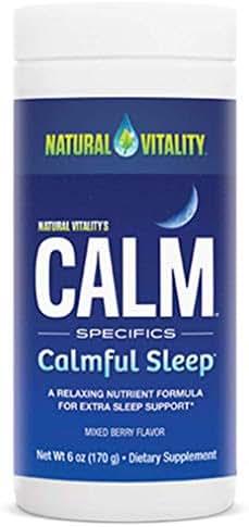 Sleep Aids: Natural Vitality CALM Calmful Sleep