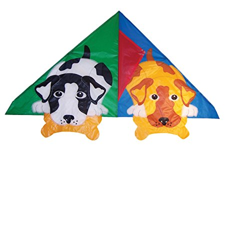 Outdoor Appliqued Windsock (In the Breeze Doggy Delta Kite, 54-Inch)