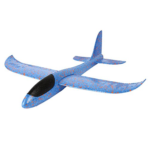 Wenasi Throwing Glider Inertia Plane Foam Aircraft Toy Hand Launch Airplane Model Outdoor Sports Toy for Kids Children Boy Girl as Gift (18 inches Blue) - Fly Model Aircraft
