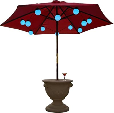 Patio Living Concepts12 Globe Color Changing Umbrella Light