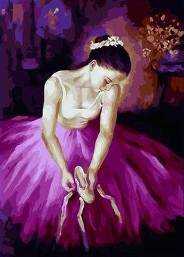Ballet Dancer Queen Paint by Number Kits for Adults 16 by 20 inch Linen Canvas (With Frame)