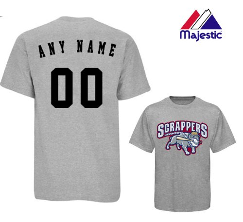 CUSTOM MAHONING VALLEY SCRAPPERS JERSEY (Add Name & Number) Adult XL 100% Cotton MiLB Majestic T-Shirt Minor League Baseball Replica Jersey