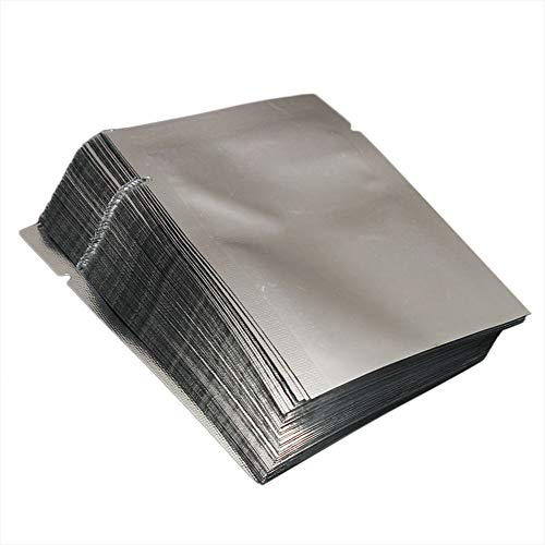 kebyy 100pcs Heat Seal Storage Bags Aluminium Foil Vacuum Sealer Pouches Food Grade for Nuts