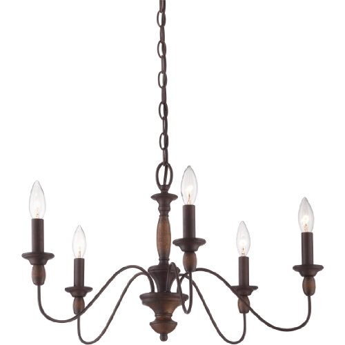 (Quoizel HK5005TC Holbrook Chandelier, 5-Light, 300 Watts, Tuscan Brown (14