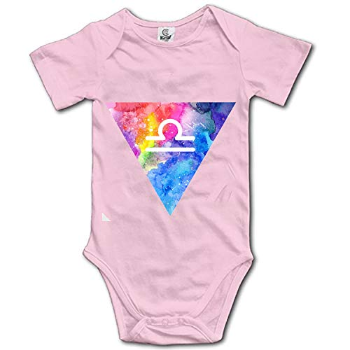 Unisex Baby Short-Sleeve Onesies Libra Zodiac Cotton Bodysuits