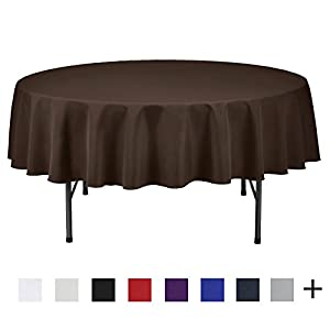 Remedios 70-inch Round Polyester Tablecloth Table Cover - Wedding Restaurant Party Banquet Decoration, Chocolate