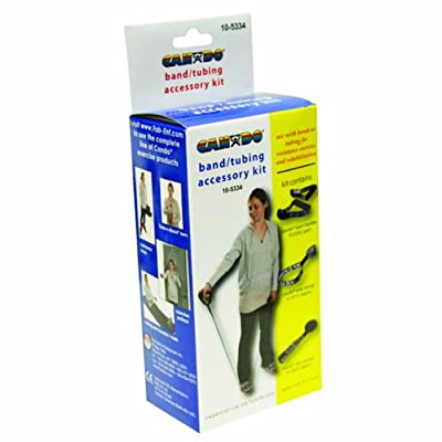 CanDo 10-5334 Exercise Band, Door Disc and Handle, Accessory Kit, Loop Stirrup