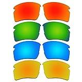 ACOMPATIBLE 4 Pair Replacement Polarized Lenses for Oakley Flak 2.0 XL Sunglasses Pack P5