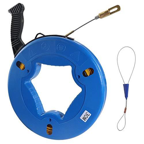 Cinta de fibra de vidrio para pesca con cable de fibra de vidrio, carrete de fibra de vidrio, tira de cinta de pesca, 5/32...