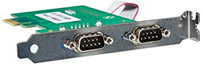 Perle SPEED2 LE Express Dual PCI Express Serial Card - 2 x 9-pin DB-9 Male RS-232 Serial from PERLE SYSTEMS
